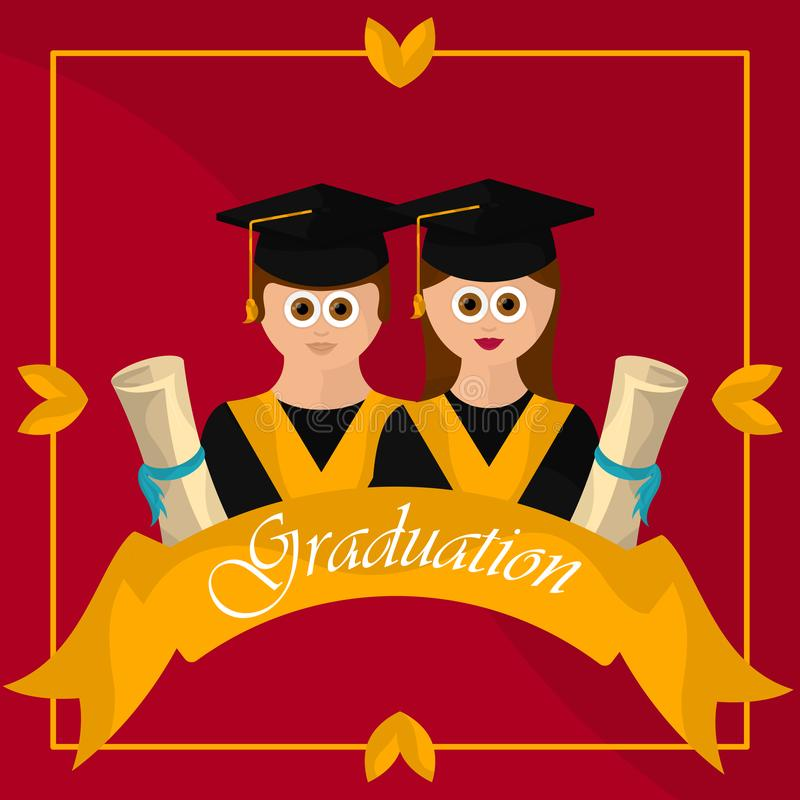 Graduation objects illustration vector illustration