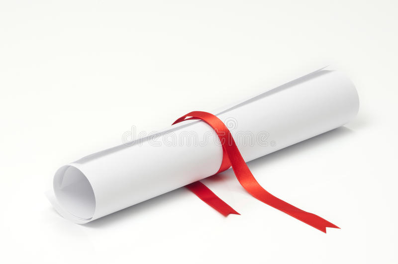 Graduation Scroll royalty free stock image