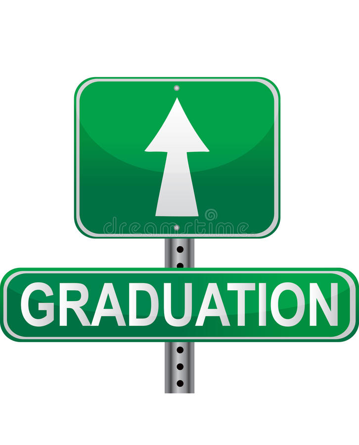 Download Graduation street sign stock vector. Illustration of future - 15660954