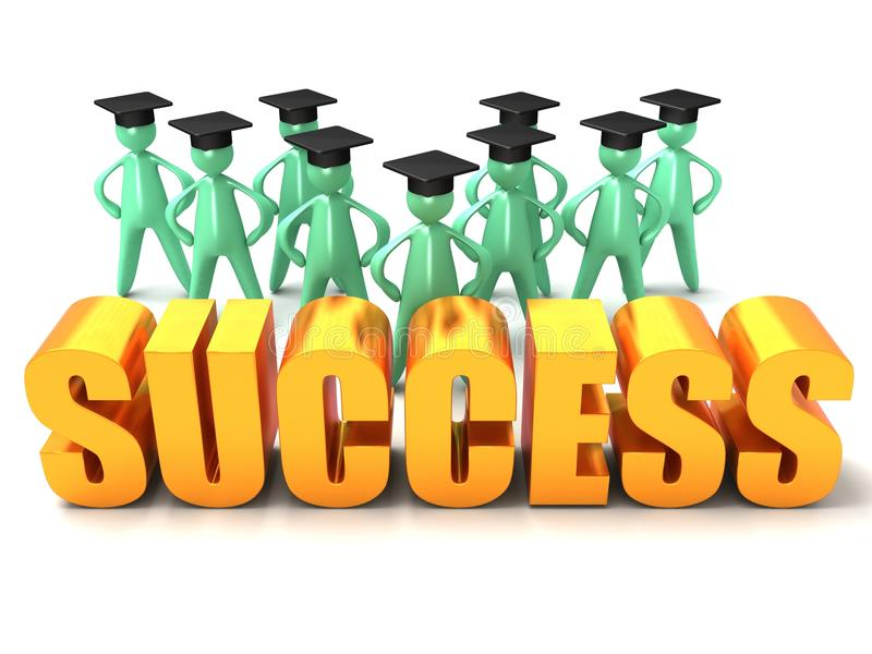 Download Graduation Success stock illustration. Illustration of academic - 26372639