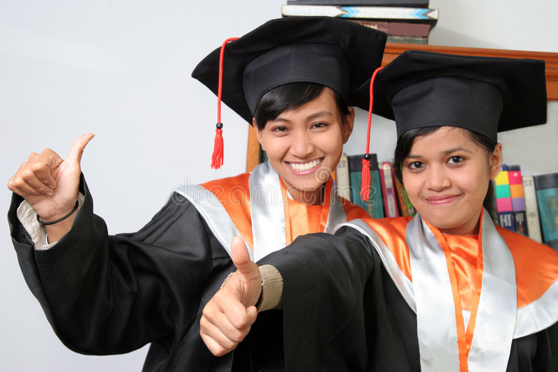 Download Graduation thumb up stock image. Image of thumb, success - 5037311