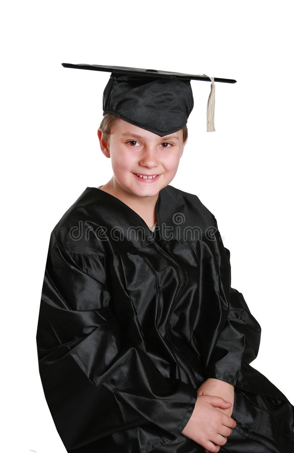Graduation to middle school royalty free stock photos