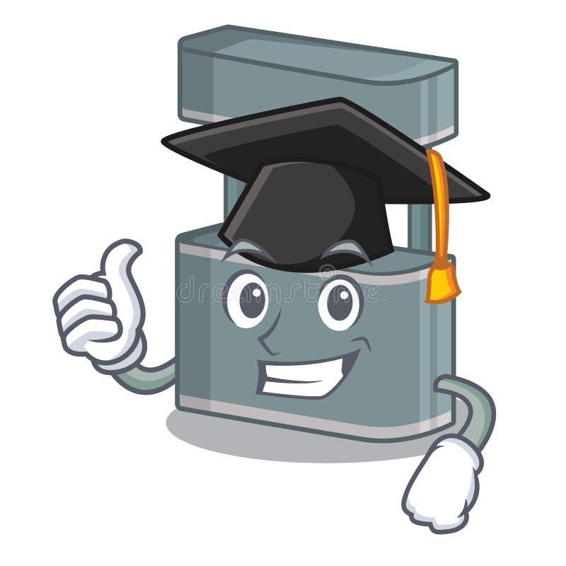 Graduation trade stand in the character shape. Vector illustraton stock illustration