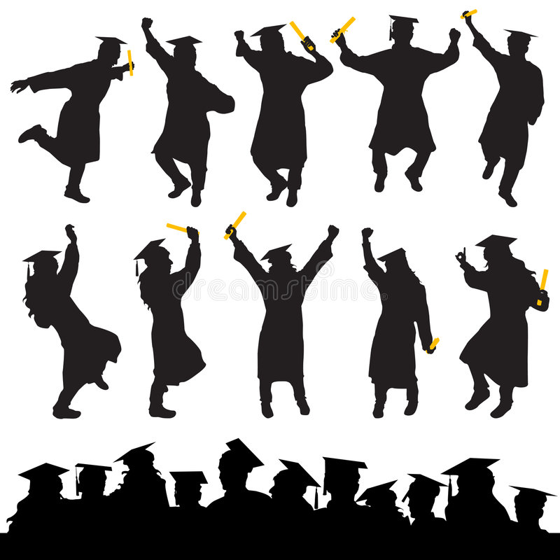 Graduation Vector Royalty Free Stock Images