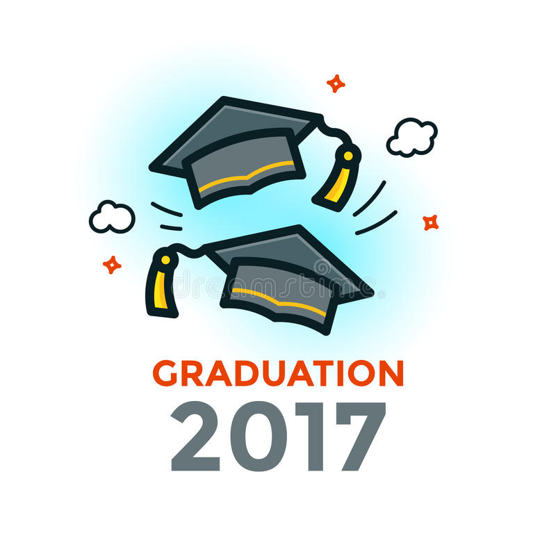 Graduation vector illustration stock illustration