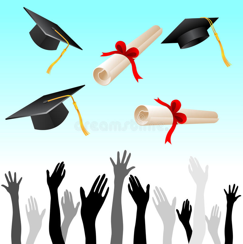 Graduazione illustrazione di stock