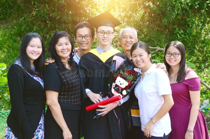 Graduazione asiatica Concetto di formazione immagine stock