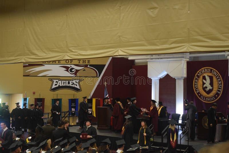 Graduazione dell'istituto universitario fotografia stock libera da diritti