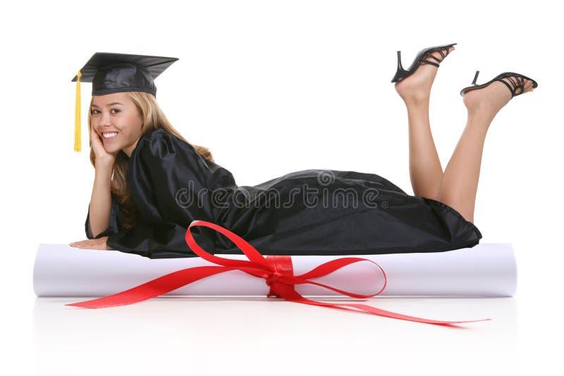 Graduazione della donna fotografia stock libera da diritti