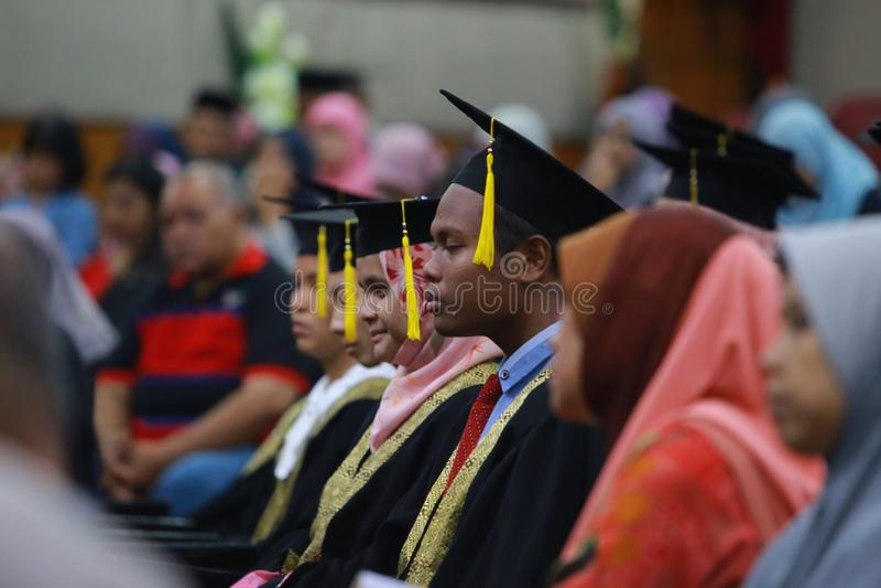 Graduazione di High School fotografie stock