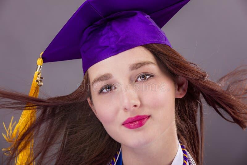 Graduazione femminile fotografia stock