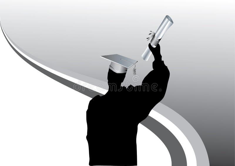 Graduazione in siluetta royalty illustrazione gratis