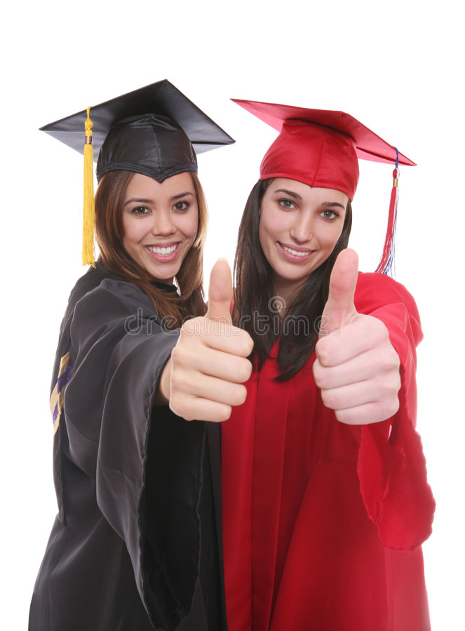 Graduieren Sie Frauen-Freunde stockbild