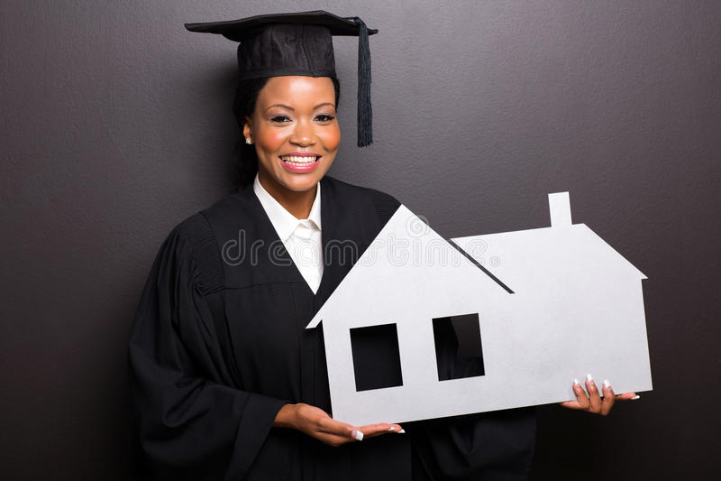 Graduiertes haltenes Hauptsymbol stockfotografie
