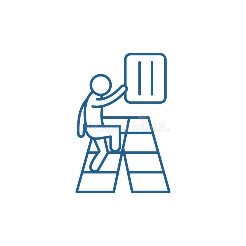 Gradvis utvecklingslinje symbolsbegrepp Plant vektorsymbol för gradvis utveckling, tecken, översiktsillustration stock illustrationer