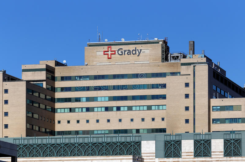 Grady Memorial Hospital stock foto