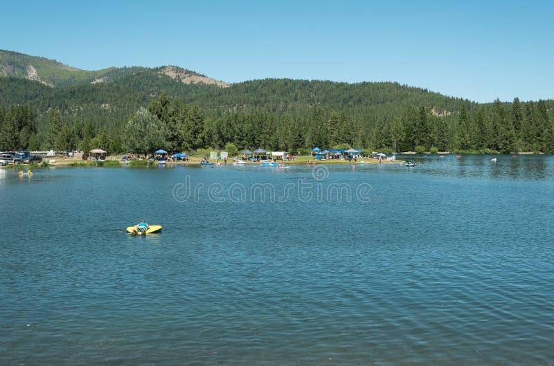 Graeaglevijver, Graeagle Californië stock foto
