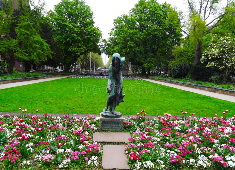 Graf Adolf Square Park, Dusseldorf royalty free stock photography