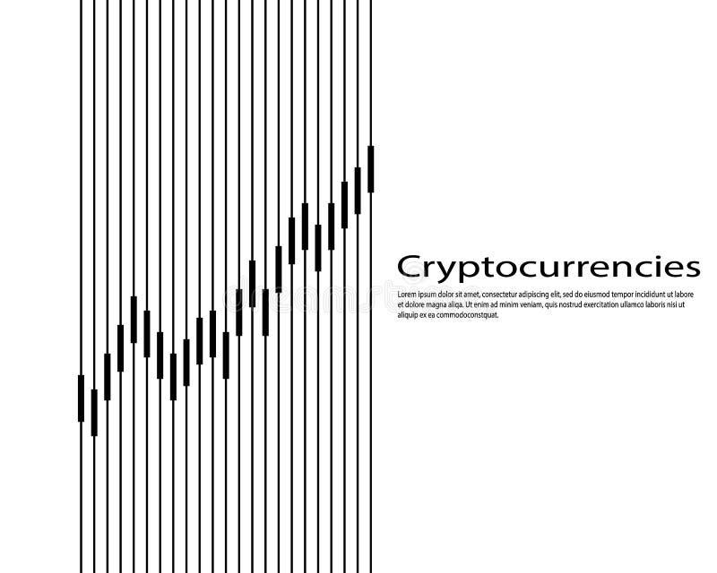 Graf av cryptocurrencyen diagram och analytics av kryptografi också vektor för coreldrawillustration vektor illustrationer
