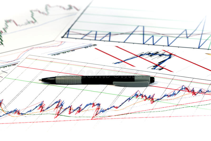 Graf av nationalekonomi royaltyfri foto