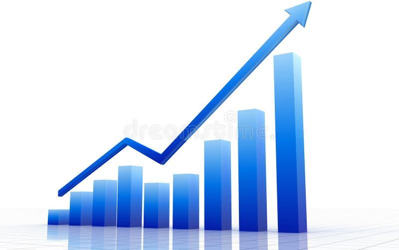 graf för blue 3d stock illustrationer