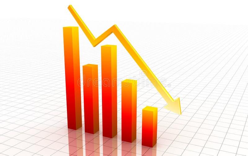 graf för decrease 3d vektor illustrationer