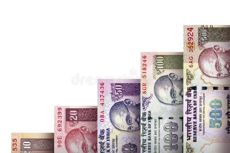 Graf för pengartillväxt royaltyfria bilder