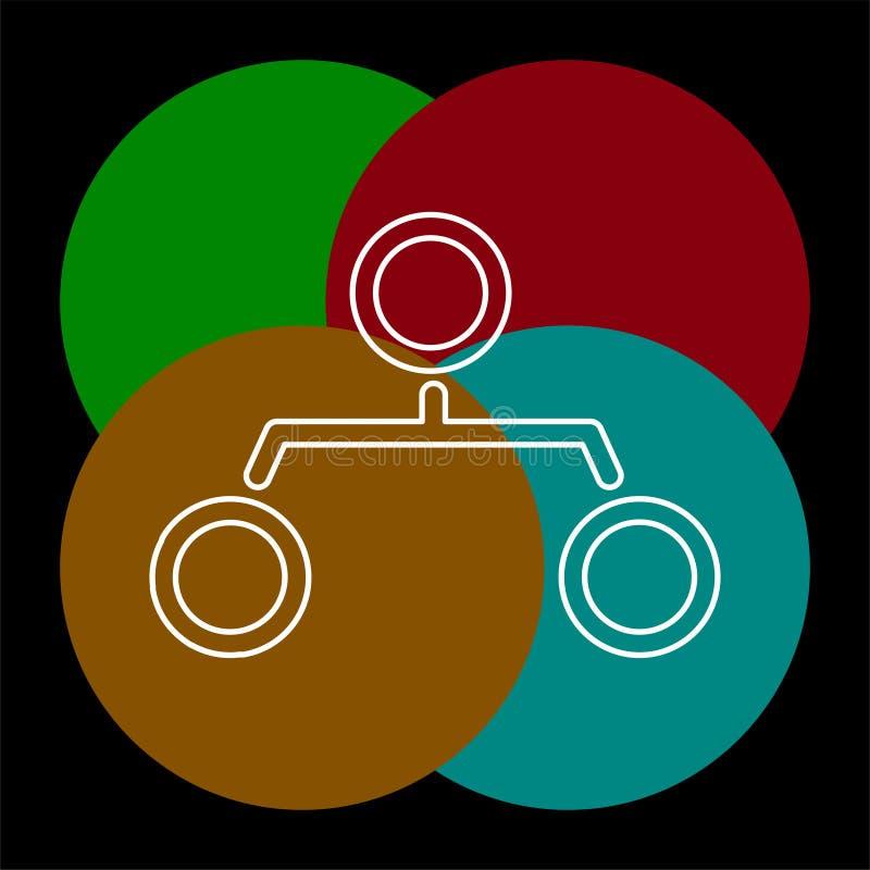 Graf f?r struktur f?r hierarki f?r symbol f?r organisationsdiagram royaltyfri illustrationer