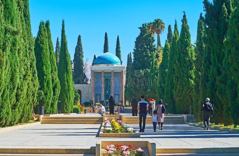 Graf Saadi in Shiraz, Iran stock foto's