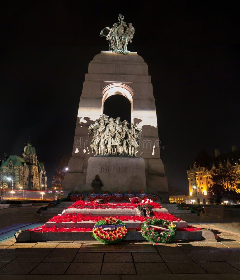 Graf van de Onbekende Militair - het Gedenkteken van de Oorlog stock foto