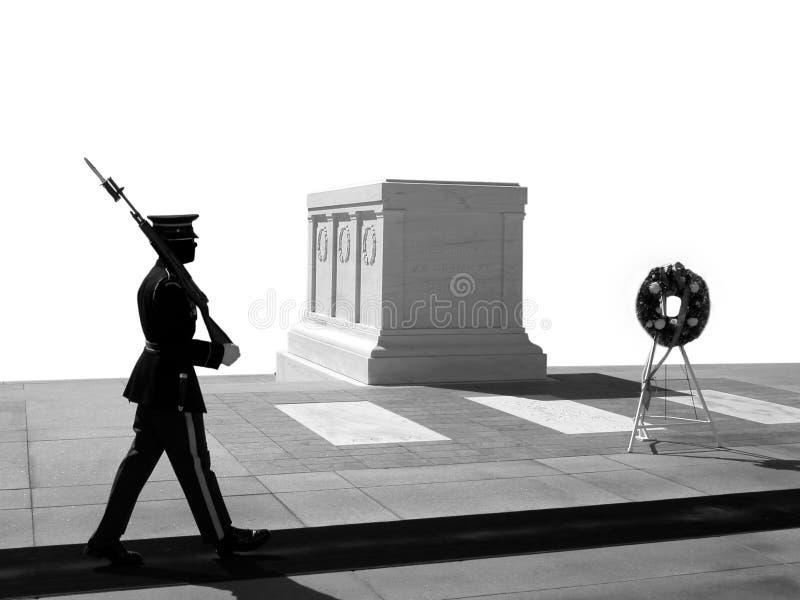 Graf van de Onbekende Militair, Nationale Begraafplaats Arlington stock fotografie