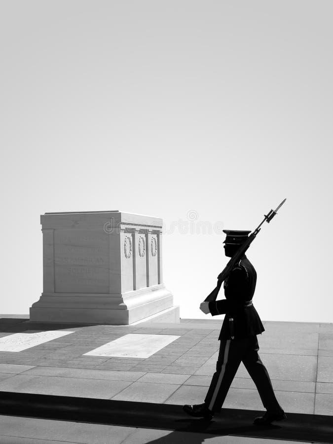 Graf van de Onbekende Militair, Nationale Begraafplaats Arlington royalty-vrije stock afbeelding