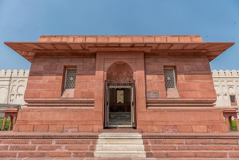 Graf van Dr. Muhammad Iqbal, Lahore, Punjab, Pakistan stock foto