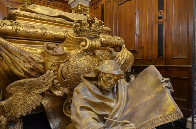 Graf van Frederick I in de kathedraal van Berlijn, Koning van Pruisen royalty-vrije stock afbeelding