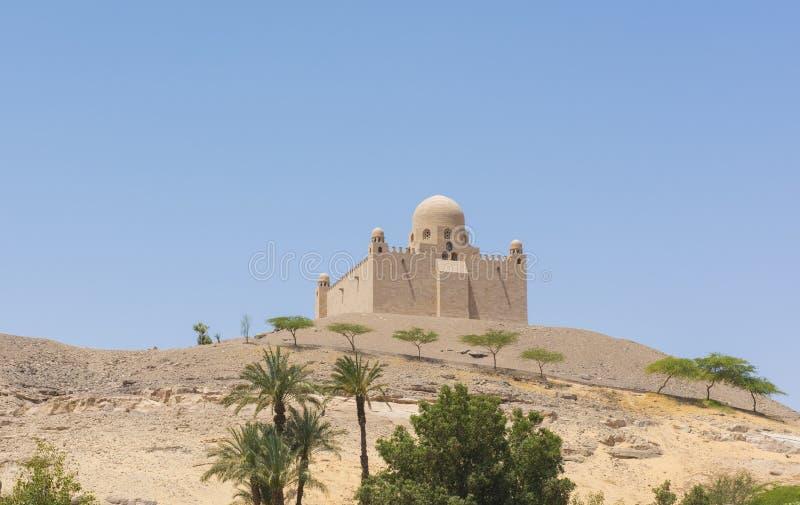 Graf van het mausoleum van Aga Khan in Aswan Egypte royalty-vrije stock foto's