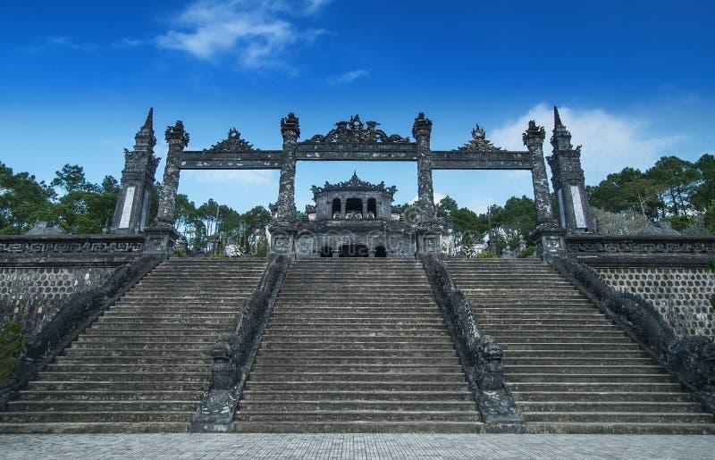 Graf van Khai Dinh, Tint, Vietnam. Unesco-de Plaats van de Werelderfenis. stock afbeelding