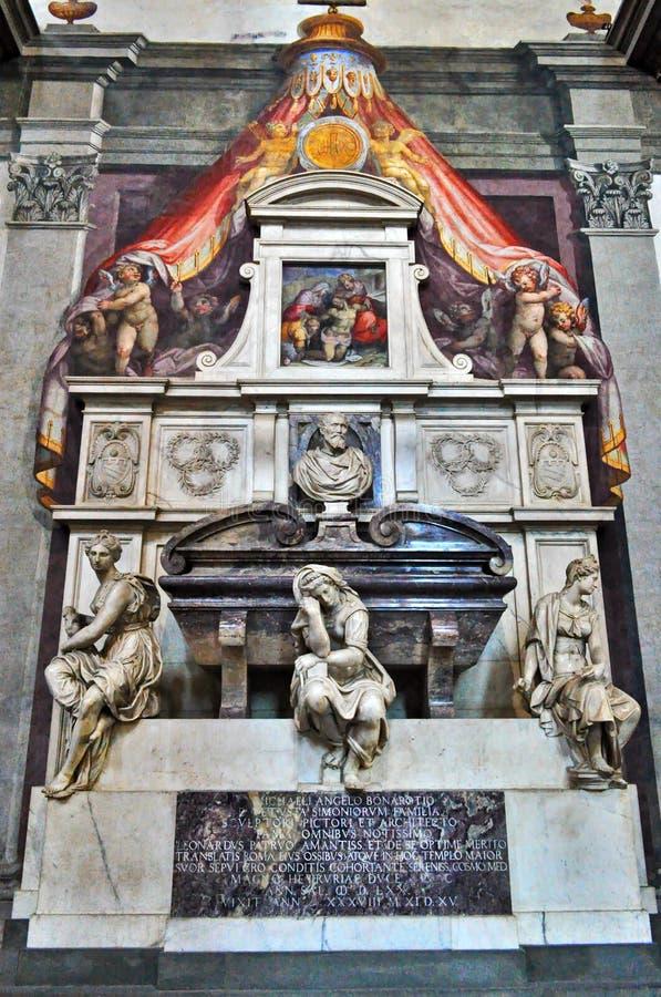 Graf van Michelangelo Buonarroti stock fotografie