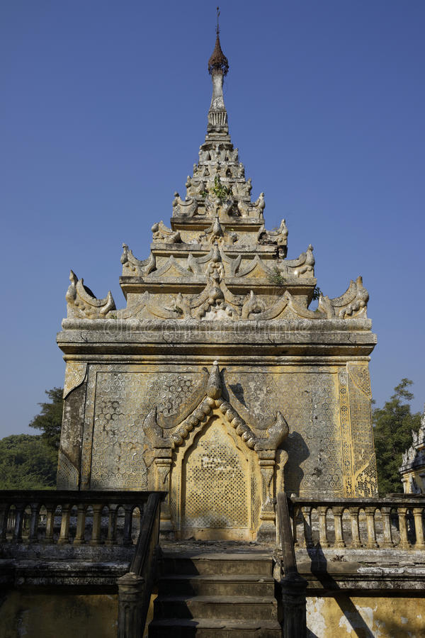 Graf van Mindon Min King in Mandalay, Myanmar (Birma) stock foto