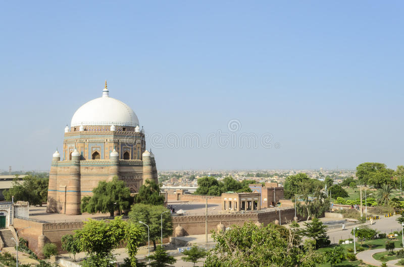 Graf van Sjah rukn-e-Alam in Multan Pakistan stock fotografie