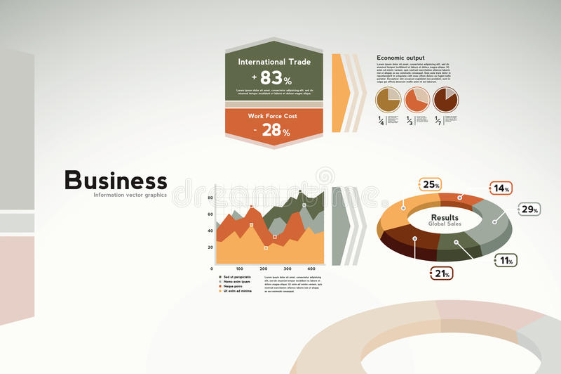 grafer för affärsdiagram rapporterar statistik vektor illustrationer