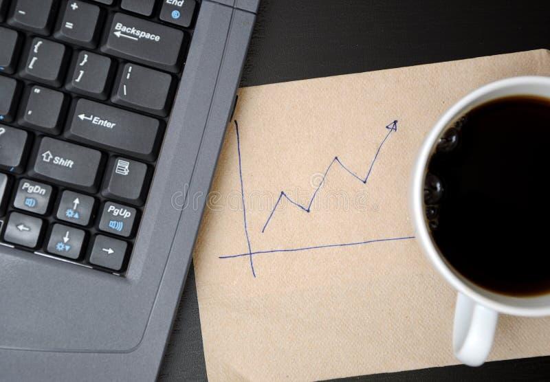 grafer för affärsteckningsfinans arkivbilder