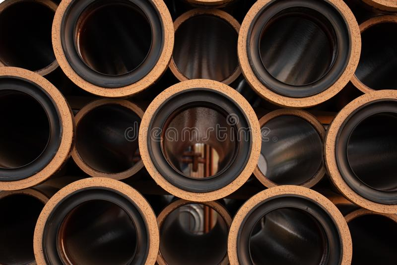Graffetta dei tubi di argilla, fondo immagine stock