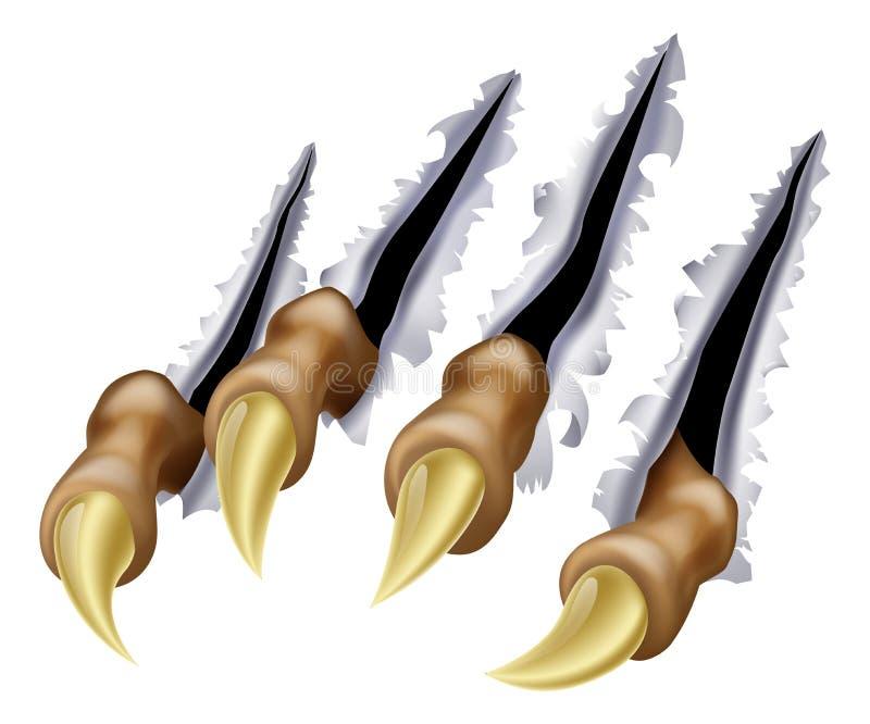 Graffio dell'artiglio del mostro royalty illustrazione gratis