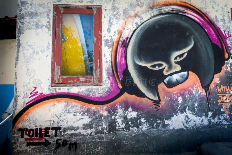 Graffit indonesiano di arte della via fotografie stock
