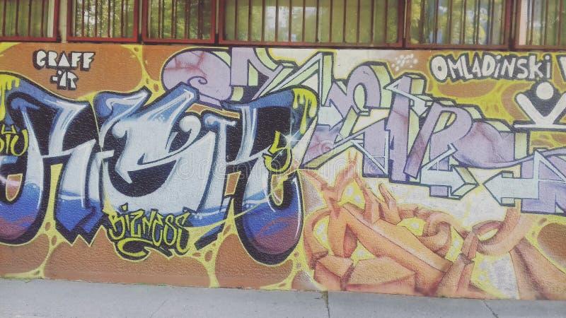 Graffite   Νόβι Σαντ   Σερβία στοκ εικόνα