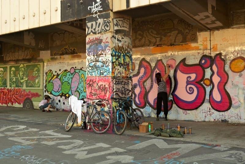 Graffiti à Vienne image libre de droits