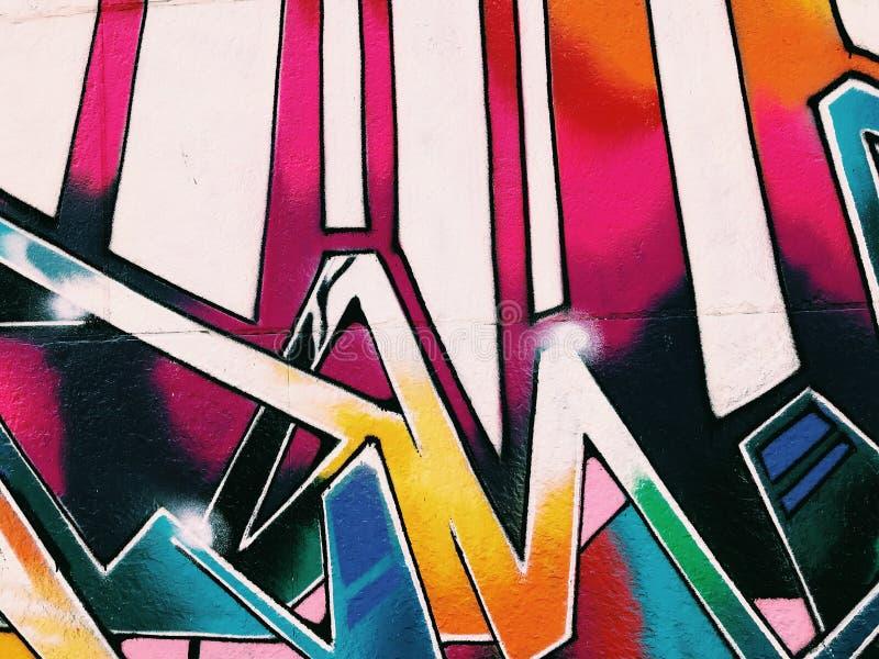 Graffiti Ścienny tło Miastowa uliczna sztuka royalty ilustracja