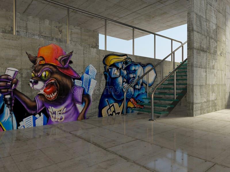 graffiti royalty ilustracja