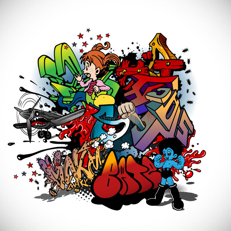 Graffiti royalty illustrazione gratis