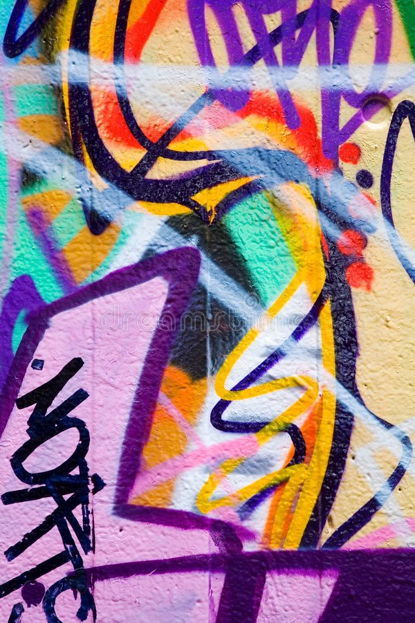 Graffiti. On a wall ideal for urban or grunge background royalty free stock image